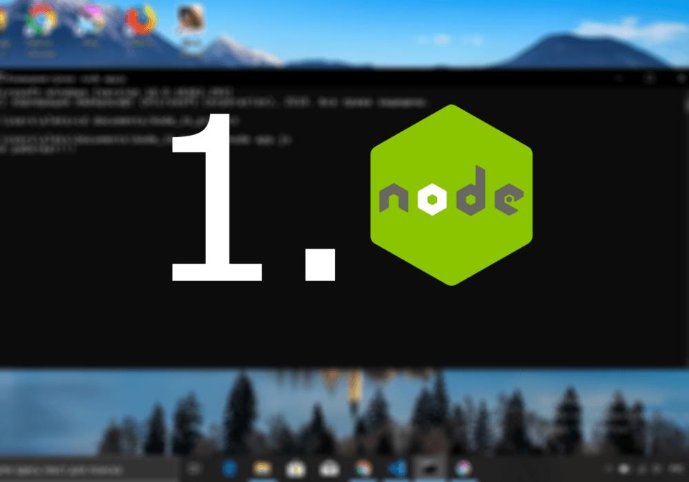 Первое приложение на чистом Node JS