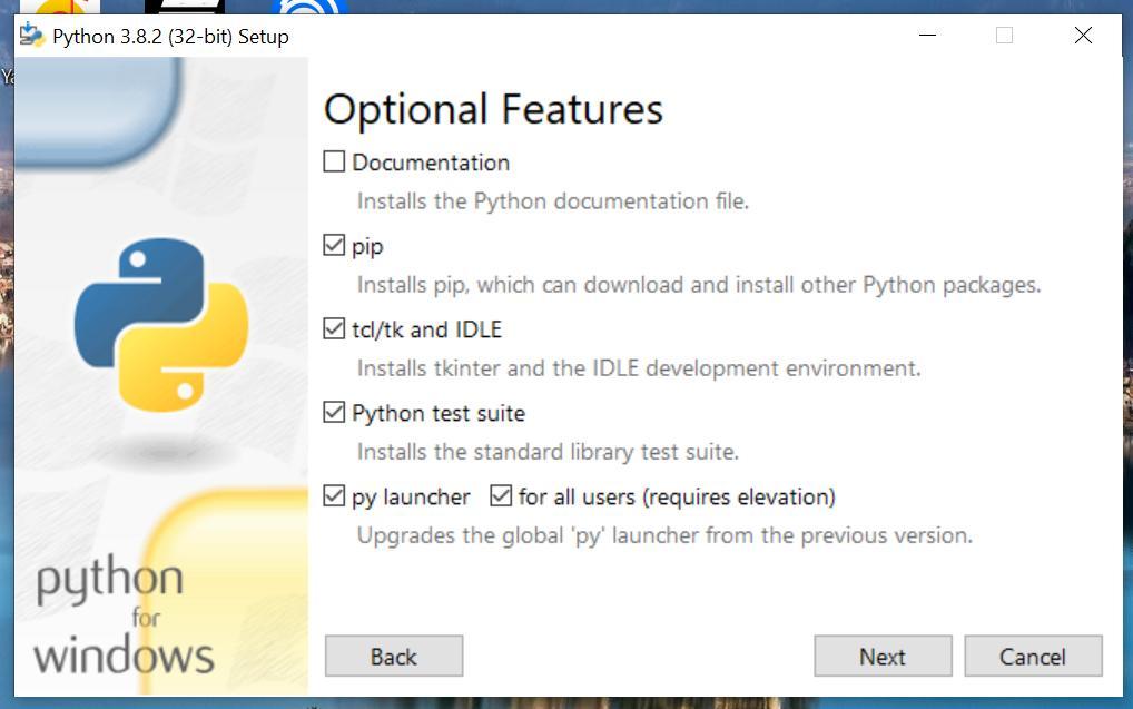 Настройки кастомной установки Python 3