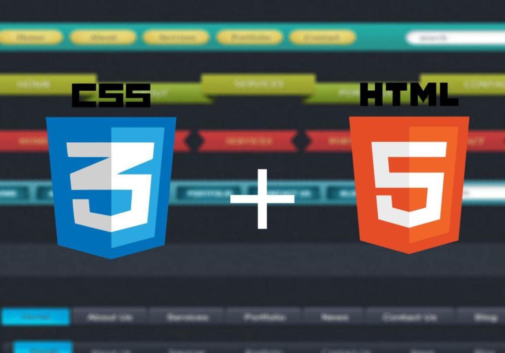 как сделать меню навигации в HTML и CSS