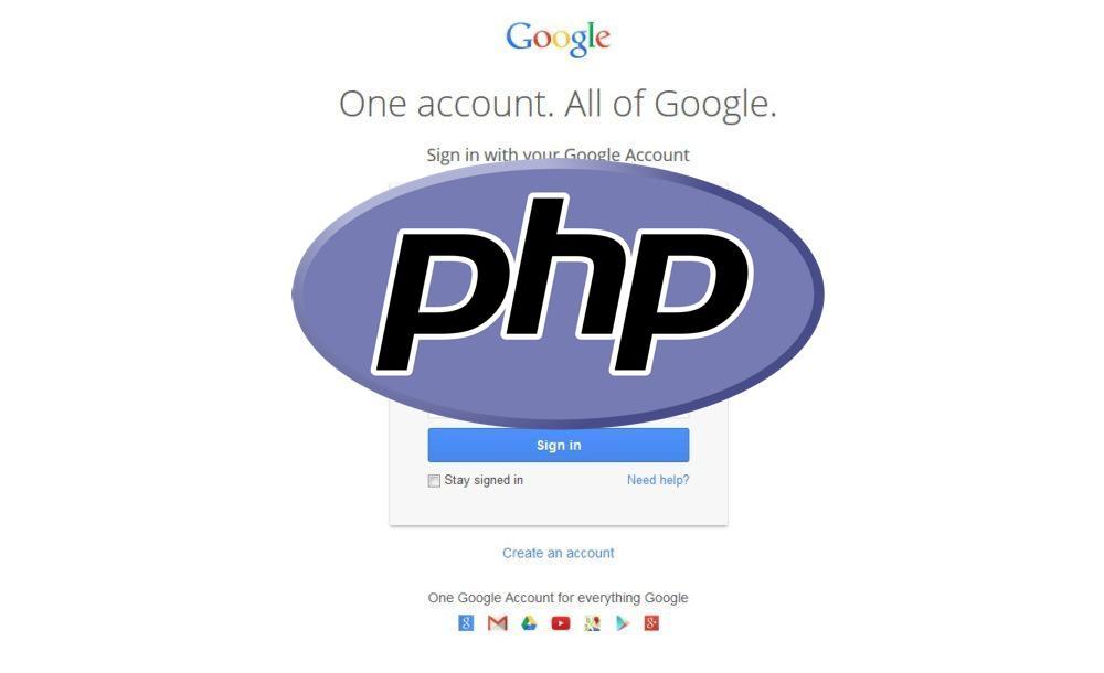 php авторизация google