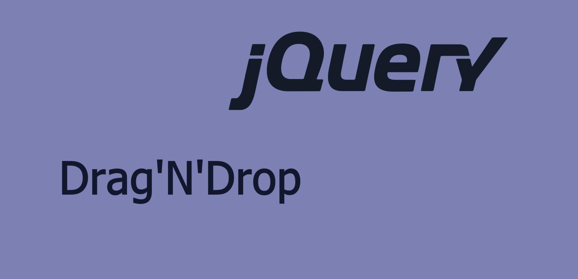 Drag'N'Drop JQuery