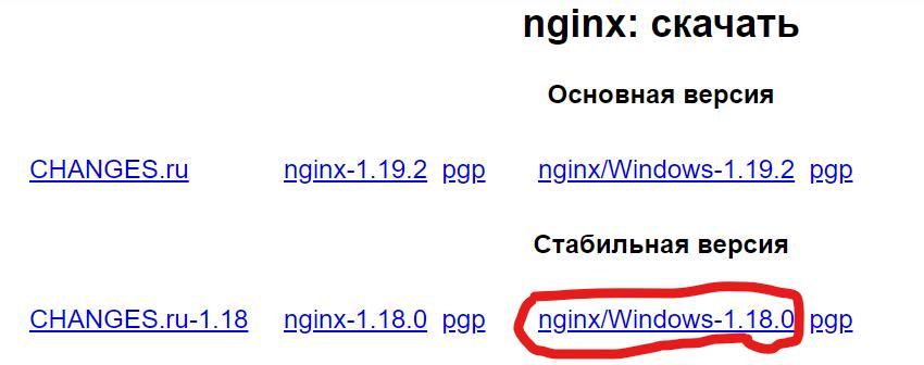 как установить и запустить nginx на windows