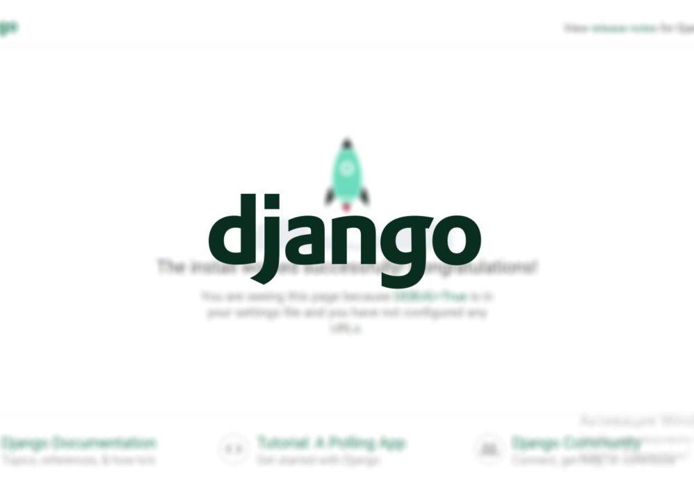 django быстрый старт
