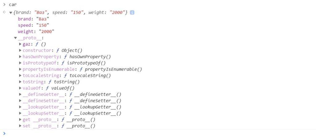 как создать прототип объекта javascript