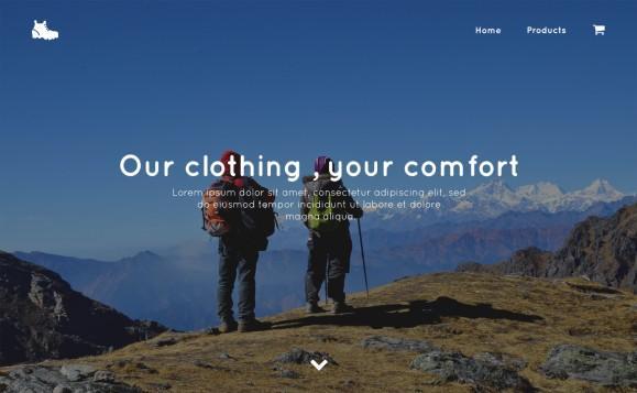 PSD Макет Trekking Store
