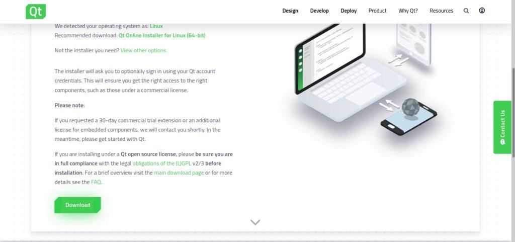 Загрузка qt 5 creator для Linux