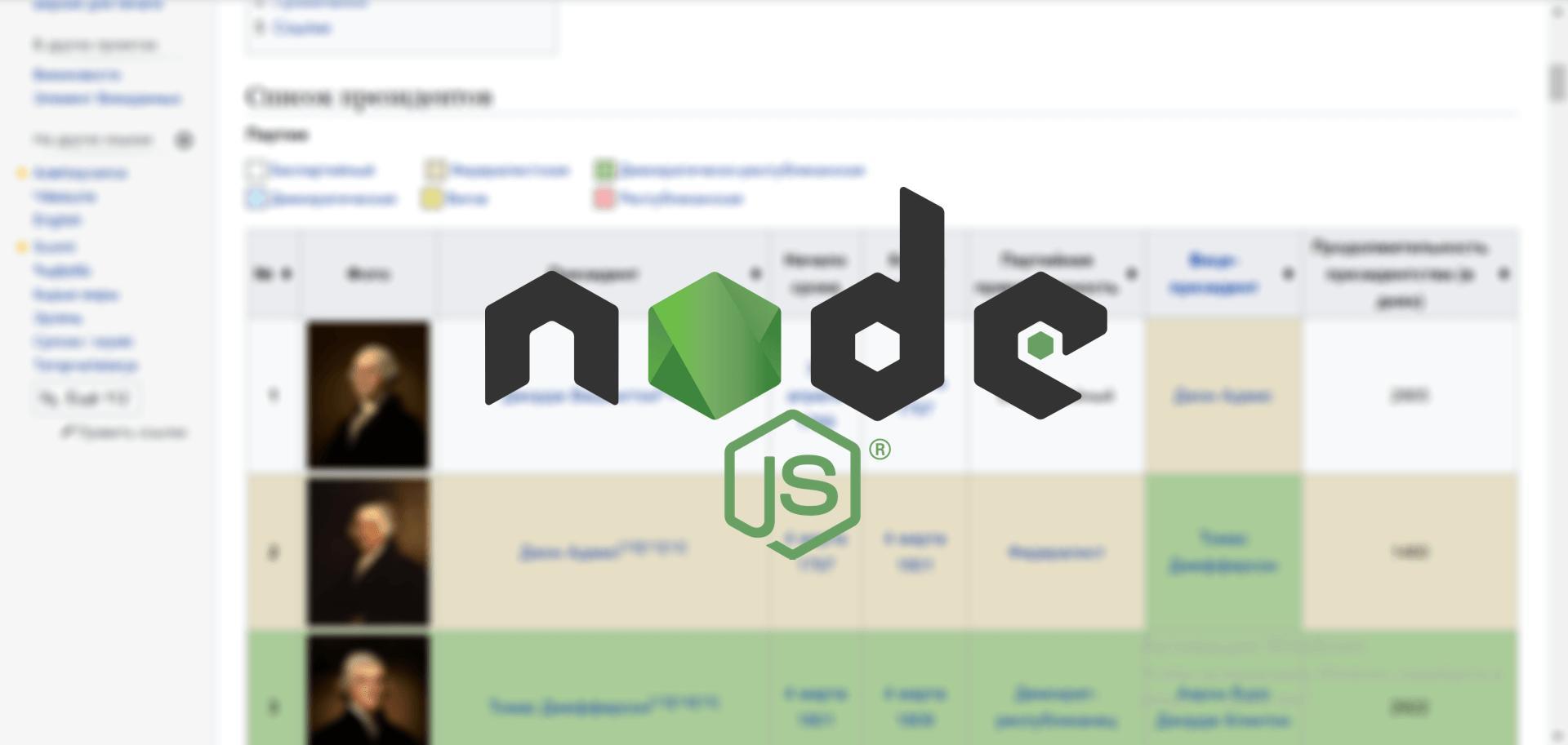 Пишем парсер сайтов на Node.JS или JavaScript
