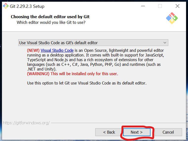 Текстовой редактор по умолчанию для Git на Windows