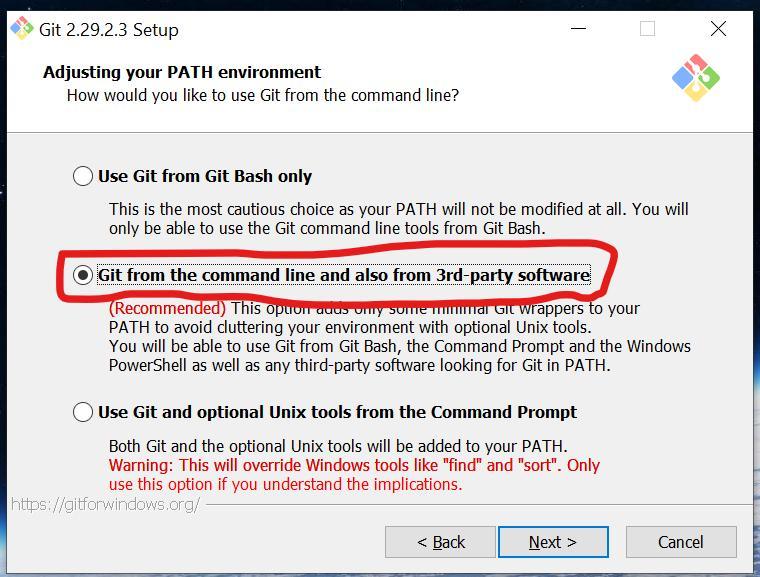 Тип команд в Git для Windows