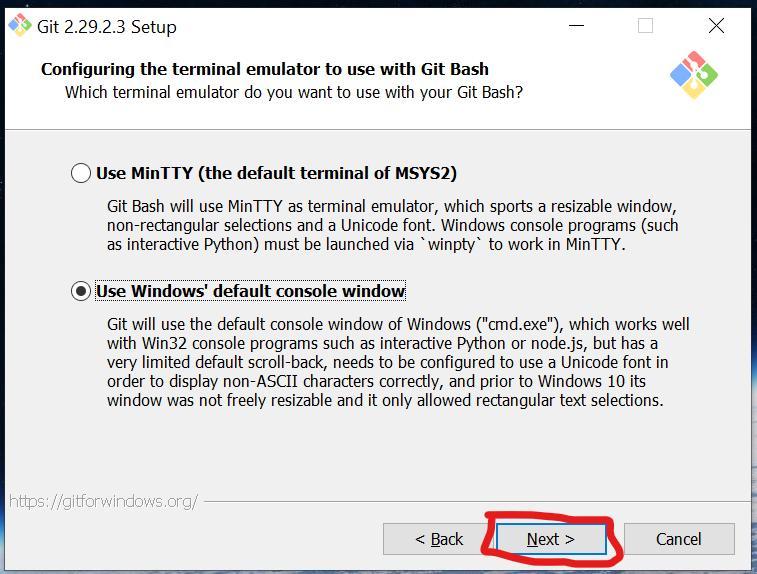 Терминал для использования Git по умолчанию