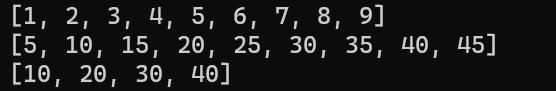 генераторы списков в python 3