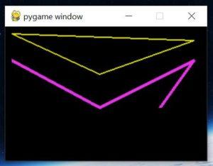 Последовательность линий в PyGame