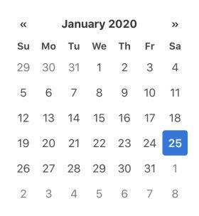 Обычный календарь на JS