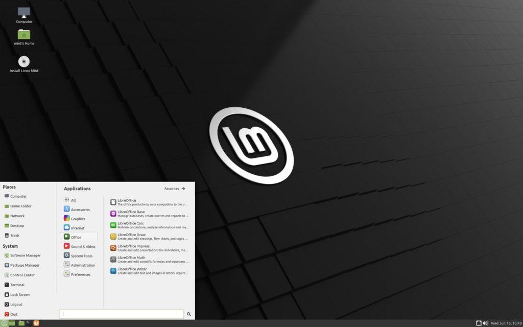 Окружение Mate для Linux mint 20.2