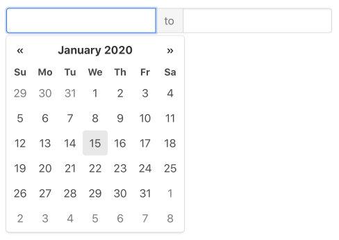 Календарь со стартом и концом JS