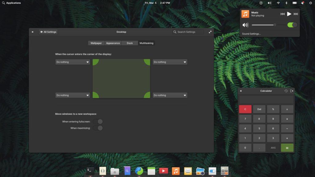 Зелёная тема Elementary OS 6