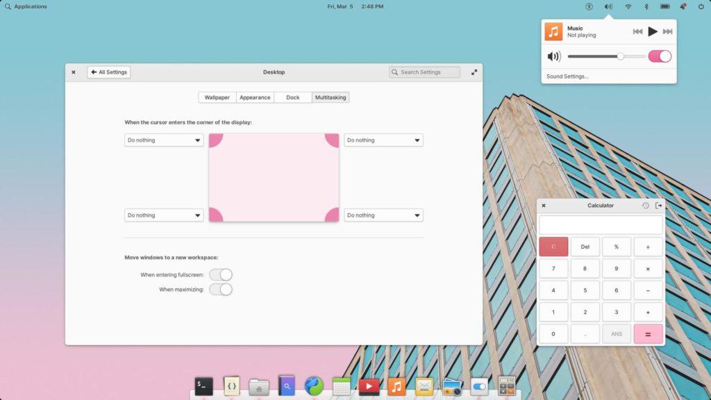 Розовая тема Elementary OS 6
