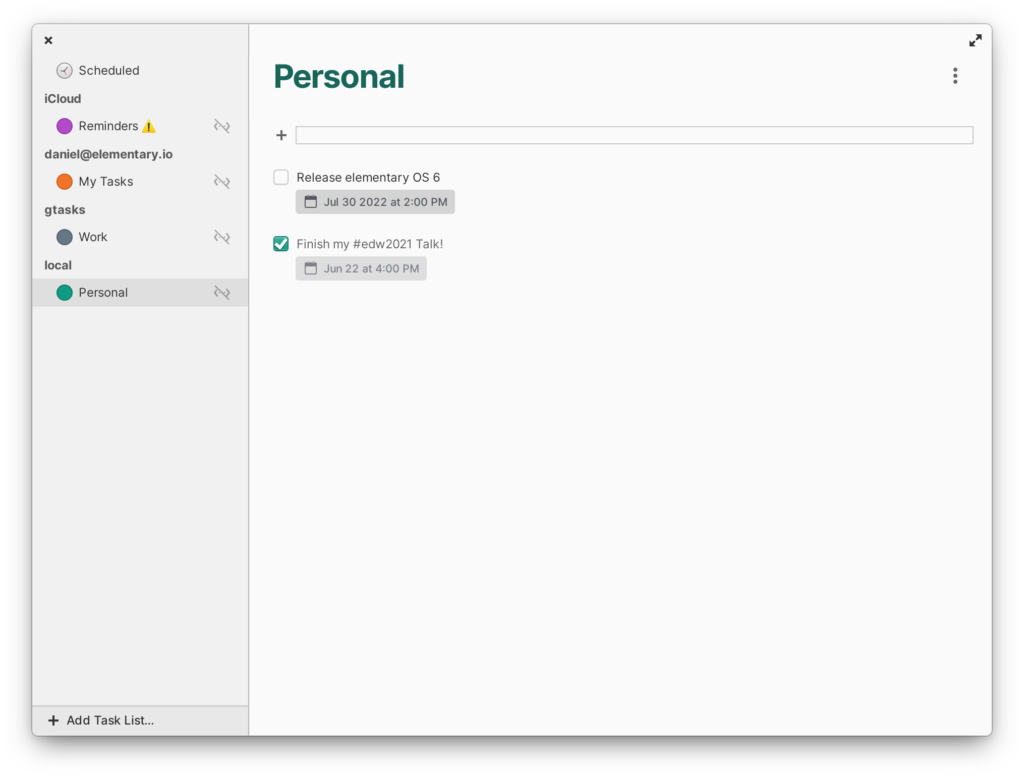 Блокнот в Elementary OS 6