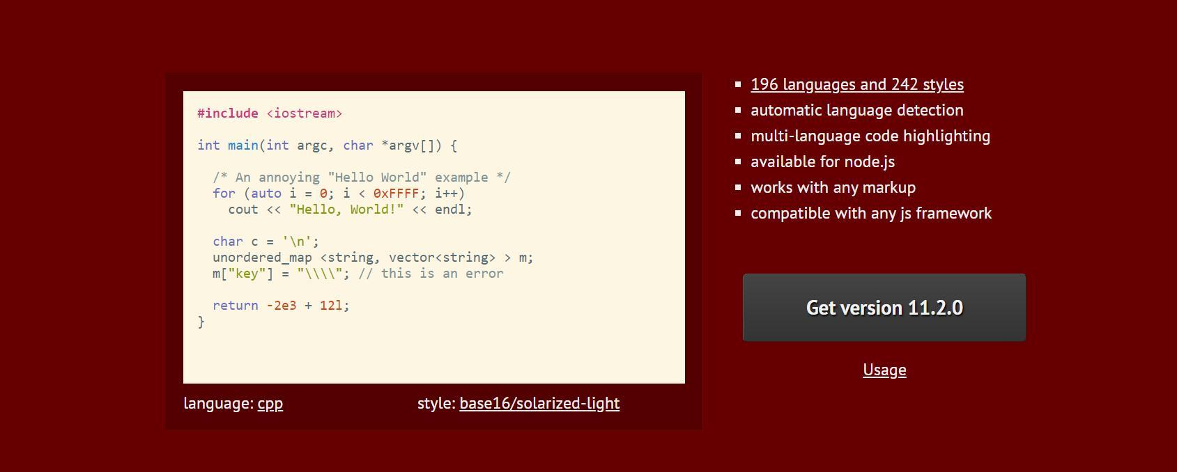 Подсветка кода на JS с Highlight.js как использовать
