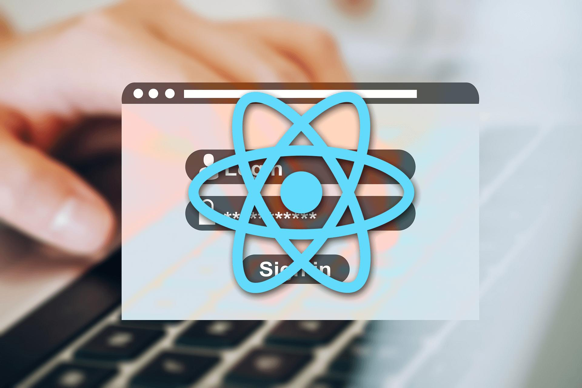 React.js форма регистрации и входа с RestAPI