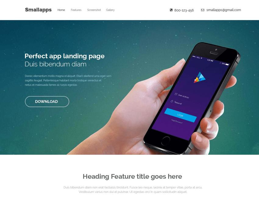 Smart App PSD макет для новичков в вёрстке